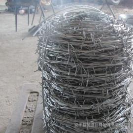 带刺镀锌铁丝¥监狱用刺绳供应厂家¥防爬防锈铁蒺藜