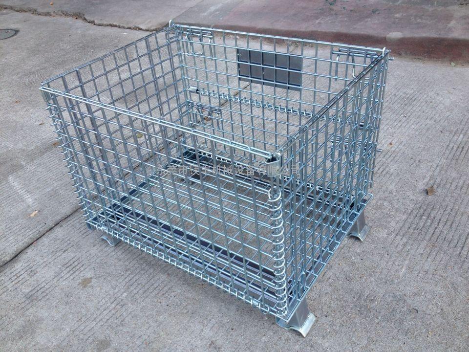 塘厦批发仓储笼/仓库笼/折叠式周转笼/小铁框/铁笼