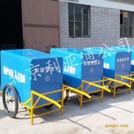 玻璃钢手推垃圾车厂家直销 三轮保洁车、不锈钢脚踏垃圾车