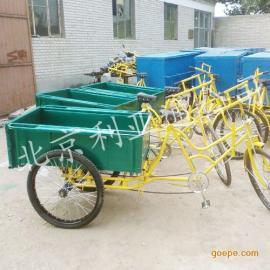 厂家供应三轮铁板人力三轮车、环卫三轮保洁车