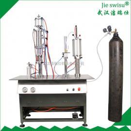 空气灌装设备将空气打包的气体灌装机