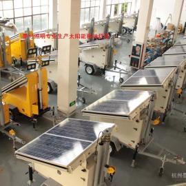 太阳能带监控移动灯塔