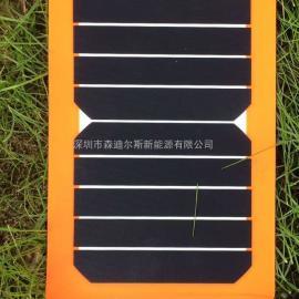 6瓦纯橙高效太阳能电池板充电板