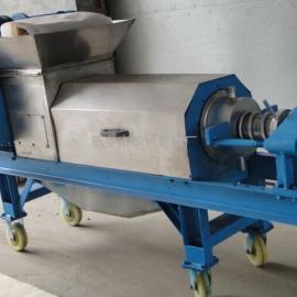 葡萄皮渣脱水机 压榨机 双螺旋压榨机 小型压榨机