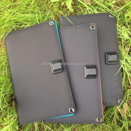 11瓦黑色高效太�能�池板充�板