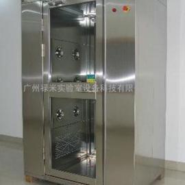 广州禄米-专业生产 不锈钢单人双吹风淋室,双侧吹风淋室