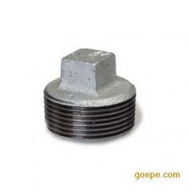 国标消防/暖气镀锌管内堵闷盖 玛钢可锻铸铁管件批发