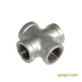 国标热镀锌四通 内丝螺纹异径管件 玛钢丝扣等径/变径四通