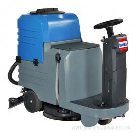 驾驶式洗地机 地下车库用电瓶驾驶式洗地车