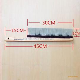 防静电毛刷生产厂家 锐辉450木柄防静电毛刷批发