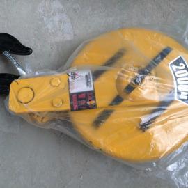 亚重2T钢丝绳型号D-6*37+1单滑轮式葫芦吊钩,专用钢锻制而成