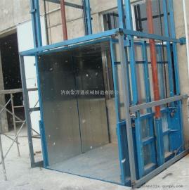 厂家定制潍坊电动链条式升降机,寿光载货运货液压货梯。