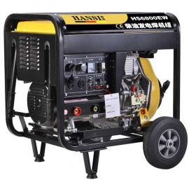 户外焊接柴油机发电电焊两用机190A电启动