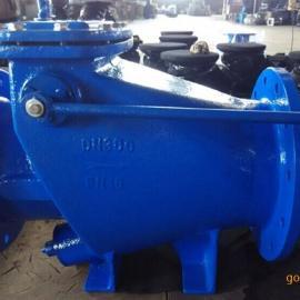 铸铁微阻止回阀HH44X-16矿用油腔连通式矿浆缓闭止回阀