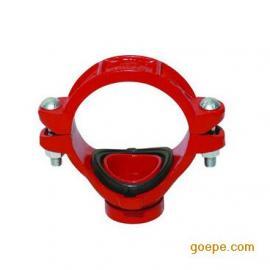 丝接机械三通 卡箍开孔内丝螺纹三通 消防变径沟槽卡箍管件