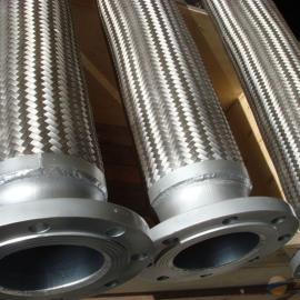 不锈钢金属软管 法兰波纹软连接 天然气液化气专用金属软管