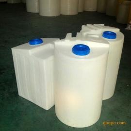 西安PAC简易加药装置100-1000L白色加药箱搅拌罐