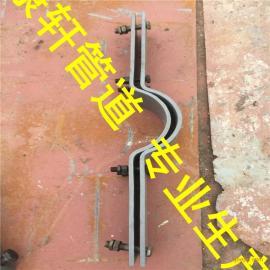 A14四螺栓管夹保冷管用 红松木保冷管夹