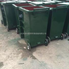 铁芯轮挂车垃圾桶,金属轮毂环卫垃圾桶,铁制轮芯方形垃圾桶