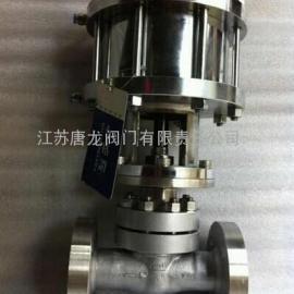 J641W-100P/R不锈钢气动锻钢法兰截止阀