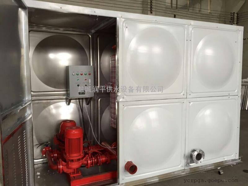 屋顶不锈钢箱泵一体化增压稳压给水设备 润平质优价优