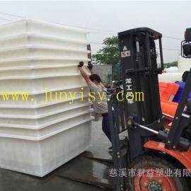 内蒙古印染方形推车塑料桶 呼和浩特方形布料桶价格