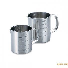 日本进口不锈钢量杯SUS304量杯5L内外刻度量杯