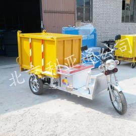 厂家定做环卫铁板三轮电动保洁车北京