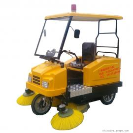 物业环卫清扫车电动扫路车道路清洁车驾驶式电动扫地车