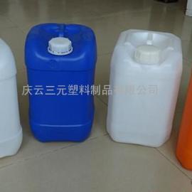 山东三元10升堆码塑料桶白色蓝色食品级别