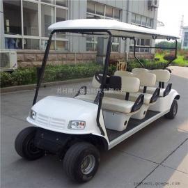 杭州六座高尔夫球车 港口码头四轮电动车 公园景区观光车