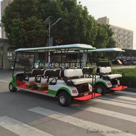 镇江厂家直销电动高尔夫球车 小区看房车 游乐园八座四轮观光车