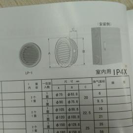 日东铁质LP-2F型通风窗上海代理直销价格实惠
