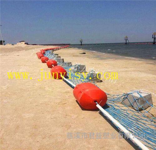 直径400*600孔径6公分塑料夹钢丝绳浮筒价格 PE浮漂