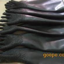 河南喷砂机防护手套 颗粒橡胶喷砂手套