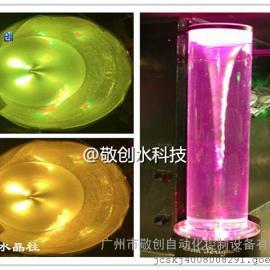 广州敬创水科技漩涡水晶柱小型装饰中的亮点