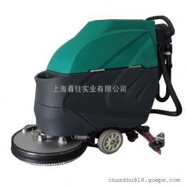 超市医院大厅保洁用洗地机电动手推式洗地机工业厂房用洗地机