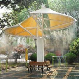 户外降温-广州铭田喷雾降温系统,解决户外闷热问题