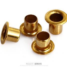广州铜鸡眼扣铆钉|铜铆钉|空心铜铆钉厂家