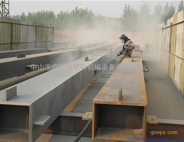 海南移动式喷砂机 钢结构除锈喷砂机 石油管道喷砂机
