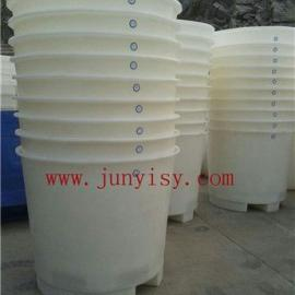 500升叉车塑料桶价格 山东纺织叉车PE桶批发