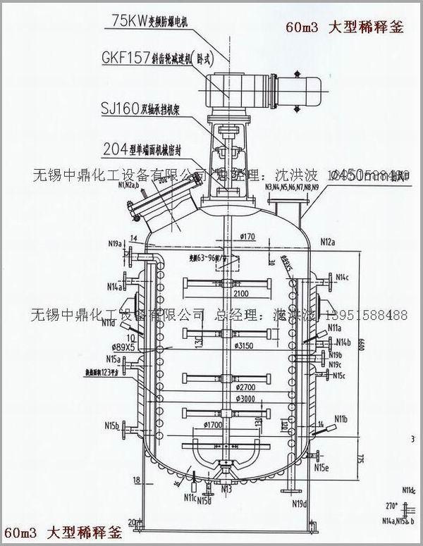 不饱和聚酯树脂设备 不饱和树脂成套设备 无锡中鼎化工设备有限公司生产的树脂全套装置用于生产不饱和聚酯树脂、酚醛树脂、环氧树脂、ABS树脂、油漆的关键设备。全套设备由反应锅、竖式分馏柱、卧式冷凝器、贮水器、溢油槽、管线(对稀釜)等组成,全套设备与物料接触部分均采用不锈钢制作。   主要部件示意图:1、反应锅 2、竖式分馏柱 3、竖式冷凝器 4、卧式冷凝器 5、贮水器 注:1、锅内可设置不锈钢盘管或夹套内设置不锈钢盘管;   2、如不用电热棒加热,也可用蒸汽加热或导热油循环加热。