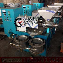 螺旋榨油机多功能菜籽花生榨油设备小型商用 两相电大豆榨油机