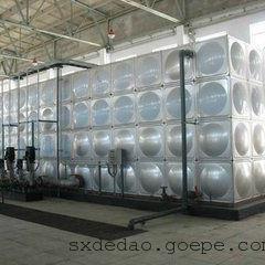 西安圆形水箱厂家,不锈钢拼接水箱订做