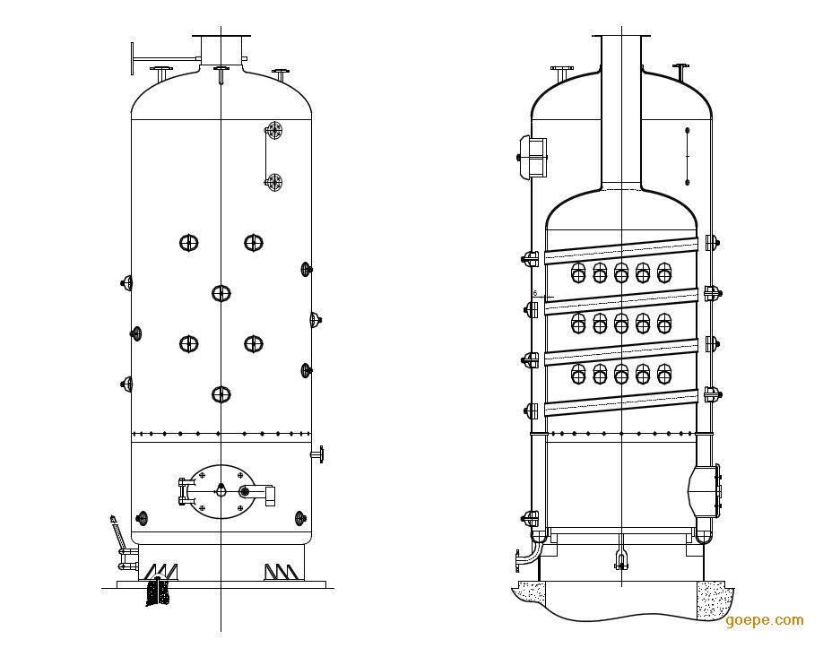 半吨立式蒸汽锅炉