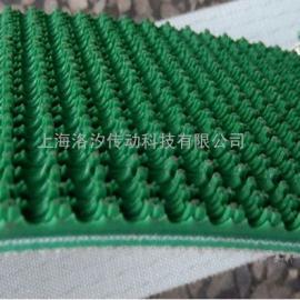绿色/黑色/白色钻石花纹pvc输送带