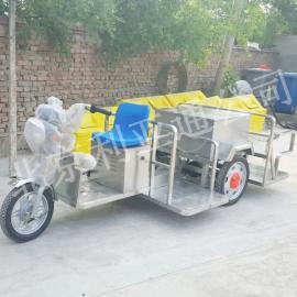 北京厂家不锈钢电动4桶垃圾车、电动三轮保洁车、环卫街道垃圾车
