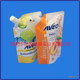 吸嘴袋厂家 柠檬汁吸嘴自立袋定制 凹印复合袋