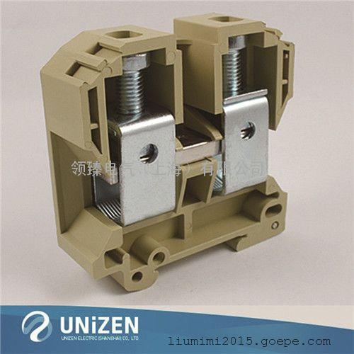 尤提乐供应jut2-70大电流接线端子排 螺钉类轨道式接线端子台