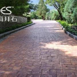 拜石供应丽水耐磨压印混凝土/压模地坪每平米价格